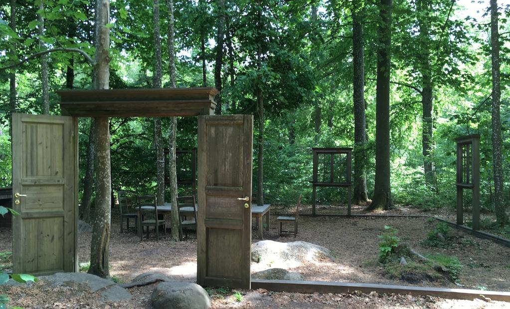 Tür Auf im Wald Haus
